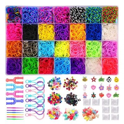 Loom Bands Kits 12,300+ Loom Bands Maker Including 11,000 Rainbow Rubber Bands,