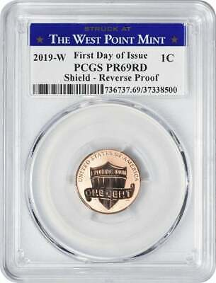~ PCGS PR69RD FIRST STRIKE ~  WP LABEL 2019 W Reverse Proof Lincoln Penny CENT