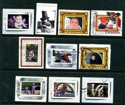 Weeda Canada Used lot of 10 personalized Babies/Portraits Picture Postage issues