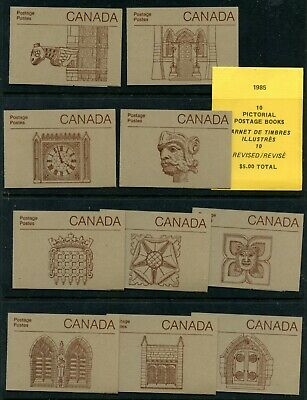 Weeda Canada BK88b VF MNH set of 10 covers, 1985 issue on Rolland paper CV $25