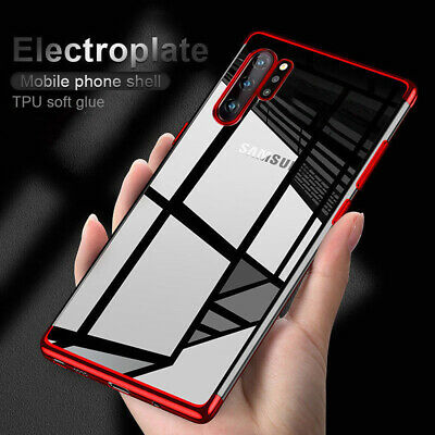 For Samsung Galaxy Note 10/10+ Shockproof Plating Rubber Clear Slim Case Cover C