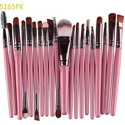 20pcs Makeup Brushes Kit Set Foundation Eyeshadow Eyeliner Lip Brush Tool FK