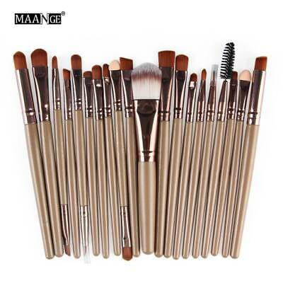 20pcs Makeup Brushes Kit Set Foundation Eyeshadow Eyeliner Lip Brush Tool JK