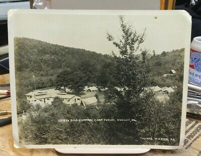 C.1937 1358th CCC Company Camp Turley Ridgway PA Aerial View New Deal Program