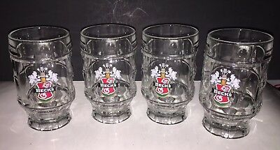 Beck's Beer Glasses Mugs Steins 0,25L Lot of 4 Dimpled Made in France Pre-Owned