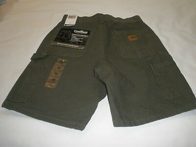 Nwt Carhartt B25 Mos Green Washed Duck Work Shorts Men's Size 28  T109