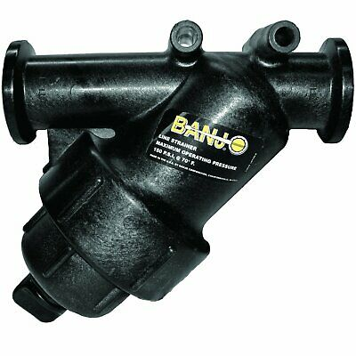 """Banjo MLS100-40 1"""" Manifold Y Strainer w/40 Mesh Screen NEW   {only 2 Available}"""