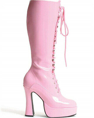 Pink Easy Lace Womens Boots