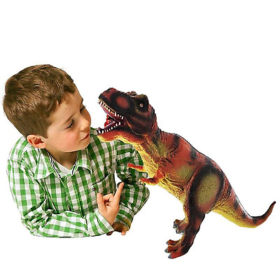 14 inch T-Rex Large Soft Foam Rubber Stuffed Dinosaur Toy Action Play Figure