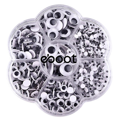 700 Pieces Round Wiggle Googly Eyes with Self-adhesive DIY Scrapbooking Crafts
