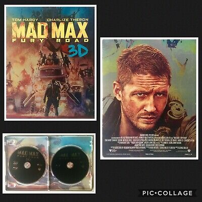 Mad Max Fury Road 3D And 2D Blu-ray Metal Steelbook Case