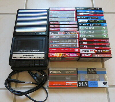 Vintage Panasonic Cassette Tape player recorder lots of New blank Cassettes