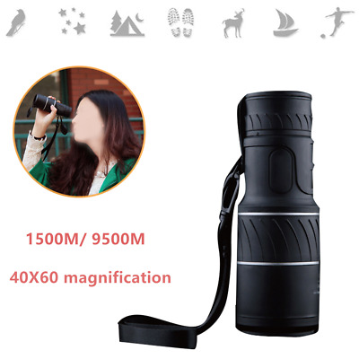 Handheld  Day&Night Vision 1500/9500M 40X60 HD Optical Monocular Telescope Focus