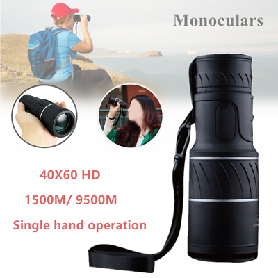 40X60 HD Optical Monocular Telescope Day&Night Vision For Hunting Camping Hiking