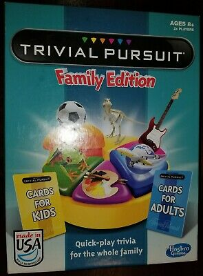 Trivial Pursuit Family Edition Board Game Complete Made In USA Ready To Enjoy