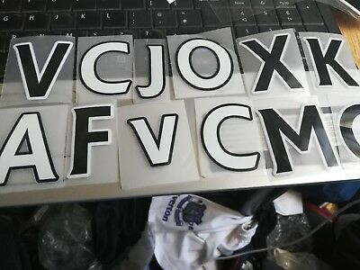 PREMIER  league letters at 50 p each in white or black sporting id plastic