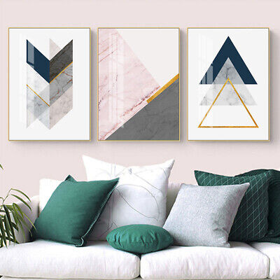Marble Abstract Shape Poster Geometric Art Canvas Print Modern Wall Picture