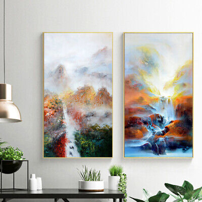 Large Modern Abstract Oil Canvas Print Painting Picture Home Wall Decor Un MDM