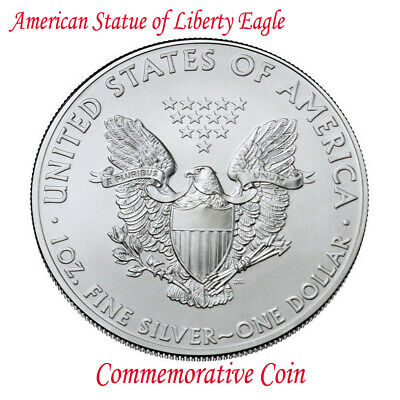New American Statue of Liberty Eagle Iron Commemorative Coin Collection Gifts