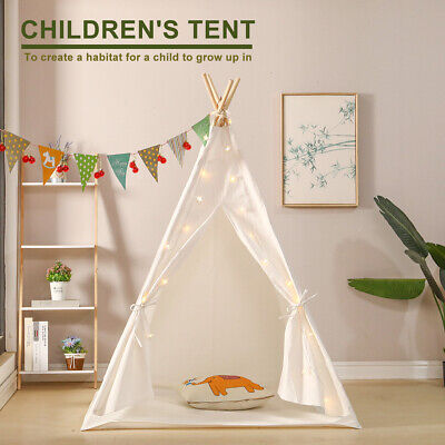 Kids Teepee Wigwam Childrens Play Tent Childs Garden or Indoor Toy 5' Canvas New