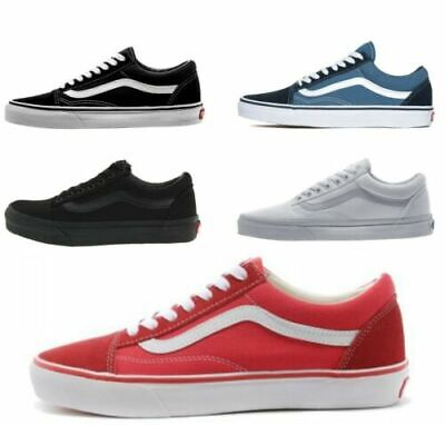 MENS WOMENS VAN S Classic OLD SKOOL Low Top Casual Canvas sneakers Shoes AOU
