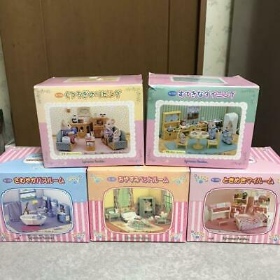 SYLVANIAN FAMILIES Family Room Set 5 Piece Retired RARE CALICO CRITTERS Epoch