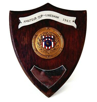 Vintage 1960s Liverpool County Football Association Wall Plaque Trophy Linesman