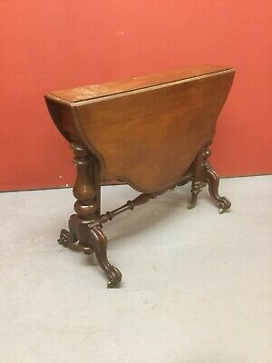 Antique Mahogany Sutherland Drop Flap Occasional Table Sn-923a