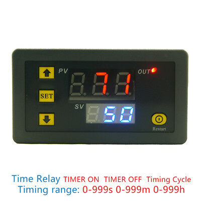 DC 12V 20A Digital Display Time Delay Relay Timing Timer Cycling Module 0-99I LC