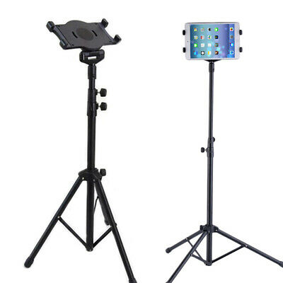 Universal Floor Stand Tablet Tripod Mount Holder For iPad Mini Air Samsung Black