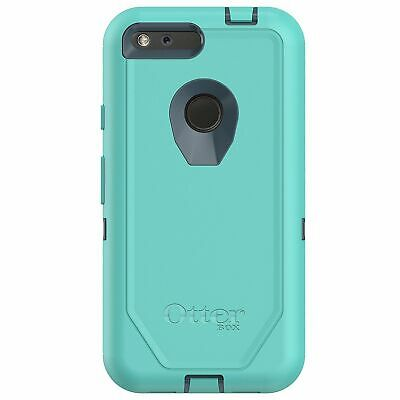 "Genuine OtterBox Defender Case for Google Pixel XL 5.5"" Borealis Teal Belt Clip"
