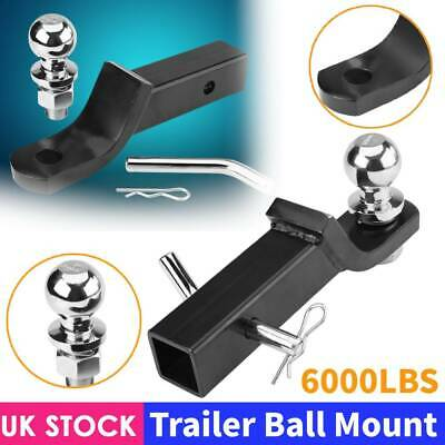 UK Trailer Ball Mount Hitch Tongue Receiver for Towing Tow Balls Trailer 6000lbs