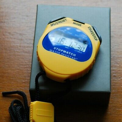Stopwatch Water Resistant Time/Calendar Display 12/24 Hour Format 1/1000 Second