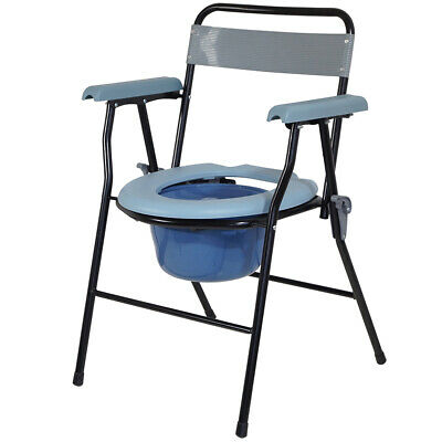 Drylife Lightweight Steel Folding Commode Toilet with 7 Litre Bucket - 10% Off