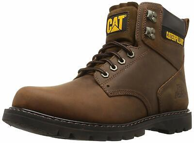 Caterpillar Mens second shift Leather Soft toe Lace Up, Dark Brown, Size 12.0 wh