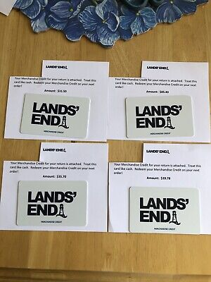 Lands End Gift Cards Total $192.38 Email Delivery Or USPS Mail