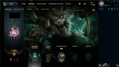 [NA] League of Legends Platinum 1 Account 77% Winrate