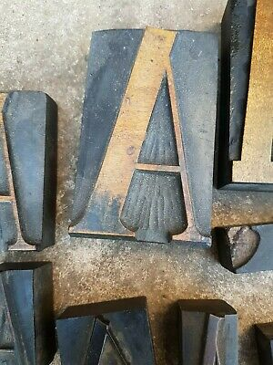 16 letter A's Many rare handcarved finished letterpress woodtype graphic design
