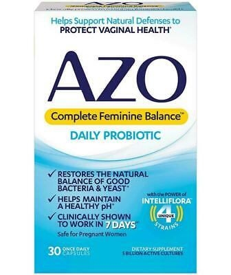 AZO Complete Feminine Balance Daily Probiotic  30 Once Daily Caps 07/20