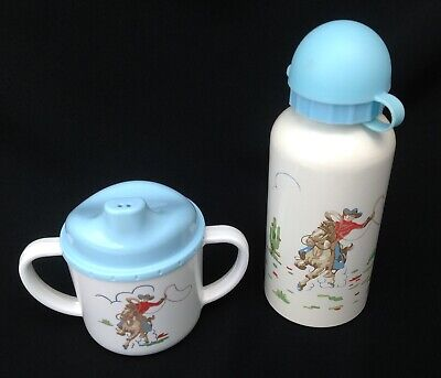 Cath Kidston Baby Sippy Cup Beaker and Bottle ~ Cowboy