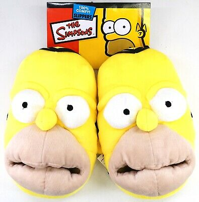 New Universal Studios The Simpsons Homer Simpson Face Adult Slippers S-L