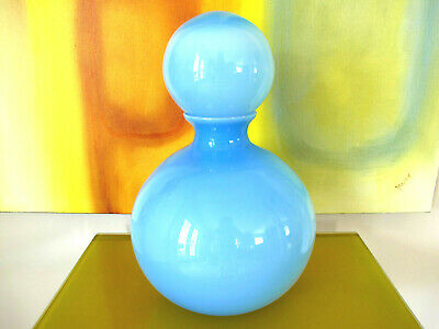 Mid-Century Modern Hand Blown Art Glass Decanter Vase Carlo Moretti Murano Italy