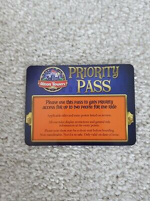 Alton Towers Priority Pass Fast Track 1.1m Rides