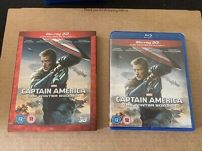 Captain America The Winter Soldier 3D Blu- ray NEW & SEALED with Slipcase Marvel