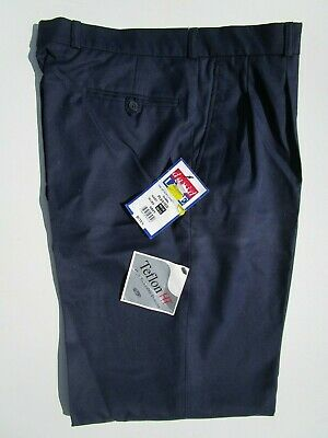 "david LUKE Boys School Trousers Pants Teflon-HT Blue DL948 Waist W34"" Leg 32"""
