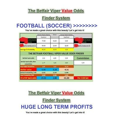 The Betfair Viper Value Odds Finder. Football (Soccer) UNIQUE Betting System.