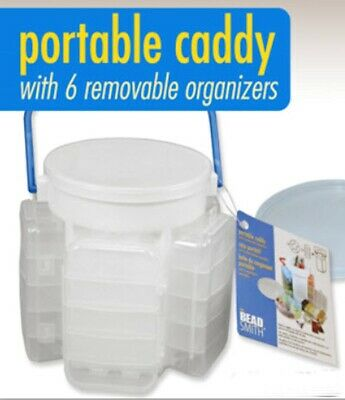 Bead Caddy With Removable Storage And Over 30 Compartments