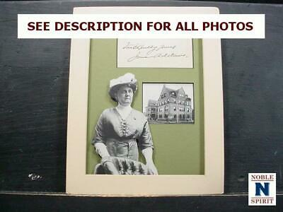 NobleSpirit  NO RESERVE (3970) Jane Addams Autograph Collage