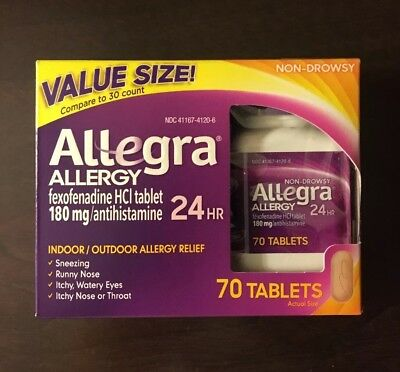 Allegra Adult 24 Hour Allergy Tablets 180mg 70 Count