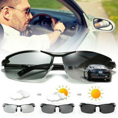 Polarized Photochromic Sunglasses Glasses Goggles For Outdoor Sports Driving YK